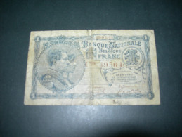 Belgium . 1 Francs 1922. - [ 2] 1831-... : Belgian Kingdom