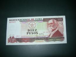 Cuba.  10 Pesos  1991. VF/XF