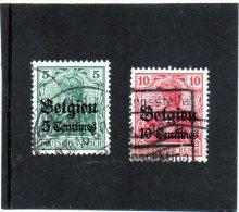 "B - 1914 Germania - Occupazione Belga - Valori In ""centimes"" - Zona Belga"