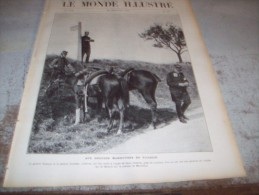LE MONDE ILLUSTRE 24 SEPTEMBRE 1910 : MANOEUVRES DE PICARDIE - JAPON - TRAVERSEE DES ALPES EN AVION