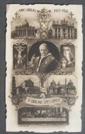 IMAGE PIEUSE : ROME VATICAN - JUBILE PIE XI 1933-1934 /  HOLY CARD / SANTINI - Images Religieuses