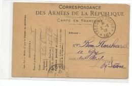 Correspondance Des Armées De La Republique Carte En Franchise Expédiée Par Un Légionnaire A  GY -HAUTE SAONE - Frankreich