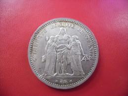 5 FRANCS HERCULE 1873 A De SUPERBE + à SPLENDIDE En Argent  @ Poids 25 Grammes Silver 90% - J. 5 Francos