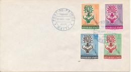 Haiti FDC 12-7-196 Refugee Stamps Overprinted Alphabetisation 30c.  Port Au Prince - Haïti