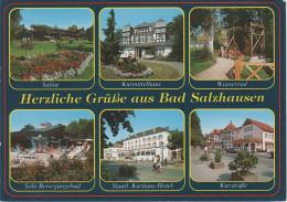 AK Grüsse Bad Salzhausen Saline Wasserrad Sole Kurhaus Kurstrasse Bei Nidda Echzell Ranstadt Hungen Schotten Friedberg - Wetterau - Kreis