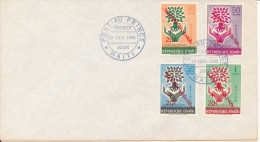 Haiti FDC 12-7-196 Refugee Stamps Overprinted Alphabetisation 20c.  Port Au Prince - Haïti