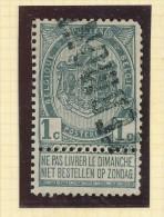 Griffe D'Origine / De Gare Sur Timbre-Poste Armoirie - TERMONDE -- WW143 - Sello Lineal