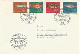 Bund 412 - 415  FDC Fische  Bonn - Spich - [7] Repubblica Federale