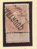 Griffe D´Origine / De Gare Sur Timbre-Poste Fine Barbe - COURTRAI + Manuscrit Ottignies -- WW153 - Poststempel
