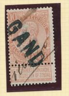 Griffe D´Origine / De Gare Sur Timbre-Poste Fine Barbe - GAND -- WW155 - Poststempel
