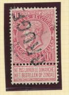 Griffe D´Origine / De Gare Sur Timbre-Poste Fine Barbe - BRUGES  -- WW159 - Poststempel