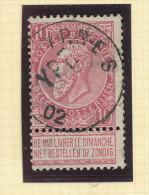 Griffe D´Origine / De Gare Sur Timbre-Poste Fine Barbe - YPRES + Cachet Postal 1902  -- WW162 - Poststempel