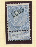 Griffe D´Origine / De Gare Sur Timbre-Poste Fine Barbe - LENS  -- WW166 - Poststempel