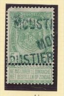 Griffe D´Origine / De Gare Sur Timbre-Poste Armoirie - MOUSTIER  -- WW173 - Poststempel