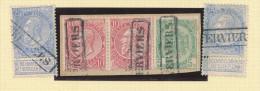 Griffe D´Origine / De Gare Sur Timbre-Poste Fine Barbe Et Armoirie S/ Fragment  - VERVIERS Encadré  -- WW175 - Poststempel