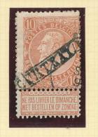 Griffe D´Origine / De Gare Sur Timbre-Poste Fine Barbe  - COURTRAY Encadré  -- WW176 - Poststempel
