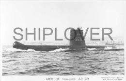 Sous-marin ARETHUSE (Marine Nationale) - Carte Photo éd. Marius Bar - Bateau/ship/schiff - Oorlog