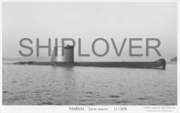 Sous-marin NARVAL (Marine Nationale) - Carte Photo éd. Marius Bar - Bateau/ship/schiff - Warships