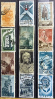 Selection Of 12 Old Used Stamps From Italy No DEL-1231. - Italy