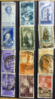 Selection Of 12 Old Used Stamps From Italy No DEL-1234. - Italy