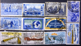 Selection Of 11 Old Used Stamps From Italy No DEL-1230. - Italy
