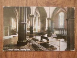 40499 POSTCARD: LONDON: Temple Church, Looking East. - London