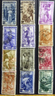 Selection Of 12 Old Used Stamps From Italy No DEL-1240. - Italy
