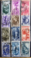 Selection Of 12 Old Used Stamps From Italy No DEL-1241. - Italy