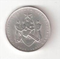 400001 B) CECOSLOVACCHIA CESKOSLOBENSKO 50 KORUN DEL 1971 QSPL ARGENTO - Cecoslovacchia