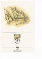 C1025 WWF ZOOGDIEREN MAMMALS NEUSHOORN HIPPO NASHORN SWASILAND SWAZILAND 1987 PROOF EDITIONS - Autres
