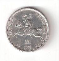 114001 B) LITUANIA LIETUVA 5 LITAI DEL 1925 SPL ARGENTO - Lituania