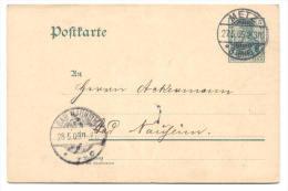 GS Deutsche Reichspost 1905 Von Metz Nach Bad Nauheim - Deutschland