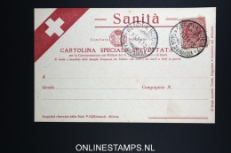 Italy: Sanita Cartolina Brevettata  1915 - 1900-44 Vittorio Emanuele III
