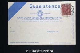 Italy: Sussistenza Cartolina Brevettata  1916 - 1900-44 Vittorio Emanuele III