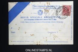 Italy: Sussistenza Busta Brevettata  1915 - 1900-44 Vittorio Emanuele III