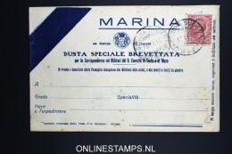 Italy: Marina Busta Brevettata  1916 - 1900-44 Vittorio Emanuele III