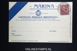 Italy: Marina Cartolina Brevettata  1916 - 1900-44 Victor Emmanuel III