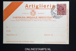 Italy: Artiglieria  Cartolina Brevettata  1915 - 1900-44 Victor Emmanuel III