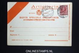 Italy: Artiglieria  Busta Brevettata  1915 - 1900-44 Victor Emmanuel III