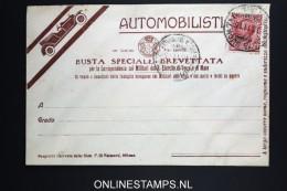 Italy: Automobilisti  Busta Brevettata  1915 - 1900-44 Vittorio Emanuele III