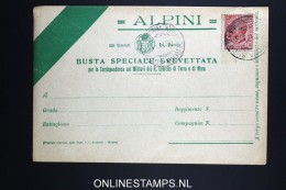 Italy: Alpine  Busta Speciale Brevettata  1915 - 1900-44 Victor Emmanuel III
