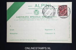 Italy: Alpine   Cartolina Speciale Brevettata  1915 - 1900-44 Vittorio Emanuele III
