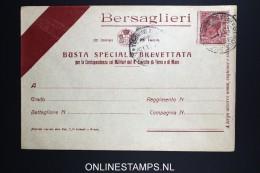 Italy: Bersagliere  Busta Speciale Brevettata  1916 - 1900-44 Victor Emmanuel III