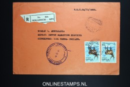 Italy: Somalia; Registered Cover Mogadiscio To Breda Holland - Somalie