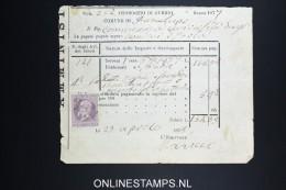 Italy: Marca Da Bollo On Document 1878 - Fiscaux
