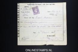 Italy: Marca Da Bollo On Document 1878 - Steuermarken