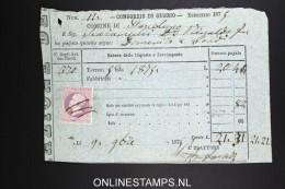 Italy: Marca Da Bollo On Document 1879 - Fiscaux