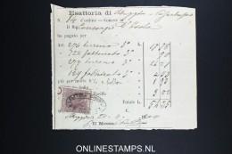 Italy: Marca Da Bollo On Document 1870 - Fiscaux