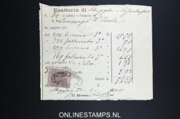Italy: Marca Da Bollo On Document 1870 - Steuermarken