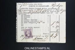 Italy: Marca Da Bollo On Document 1879 - Fiscales